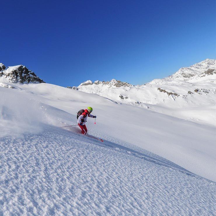 Pista da sci ghiacciaio Presena